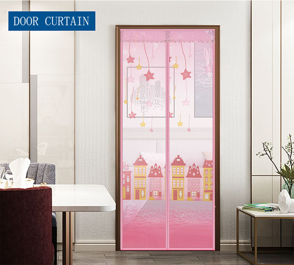 Magnetic Curtains Anti Mosquito Insects Mesh Nets Automatic Closing Door Screens Pink